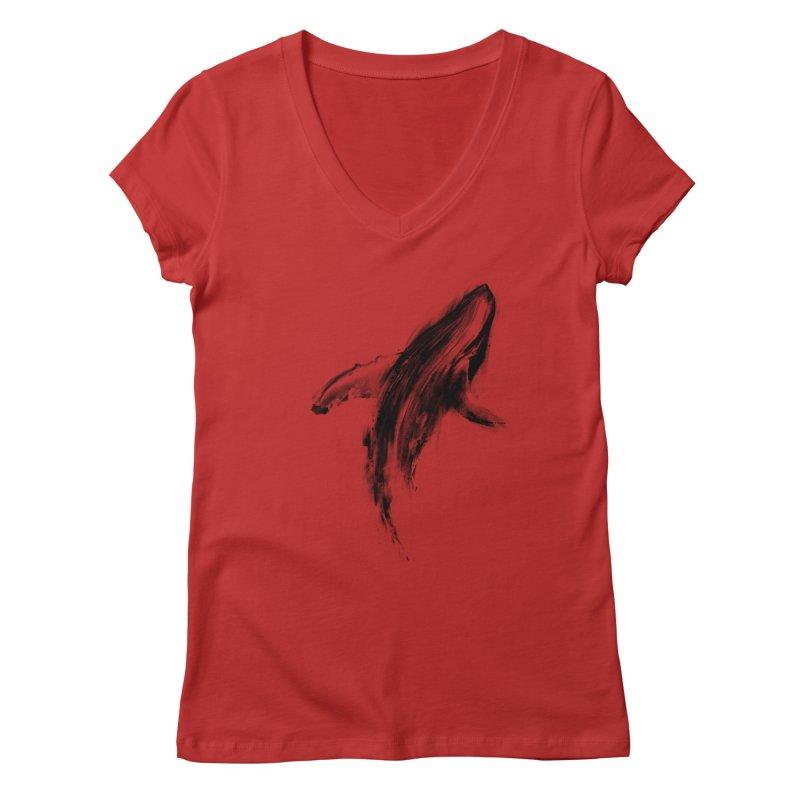 Whale Women's V-Neck by kdeuce's Artist Shop