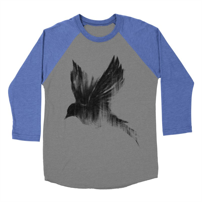 Birdy Men's Baseball Triblend T-Shirt by kdeuce's Artist Shop