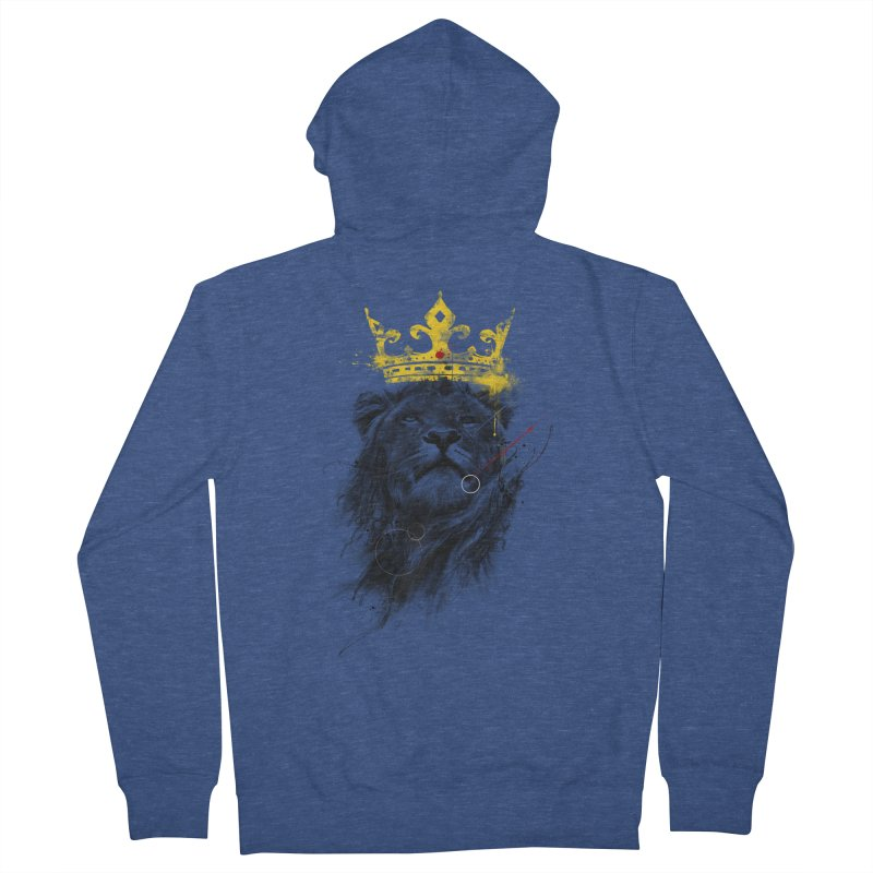 Kitty King Men's French Terry Zip-Up Hoody by kdeuce's Artist Shop