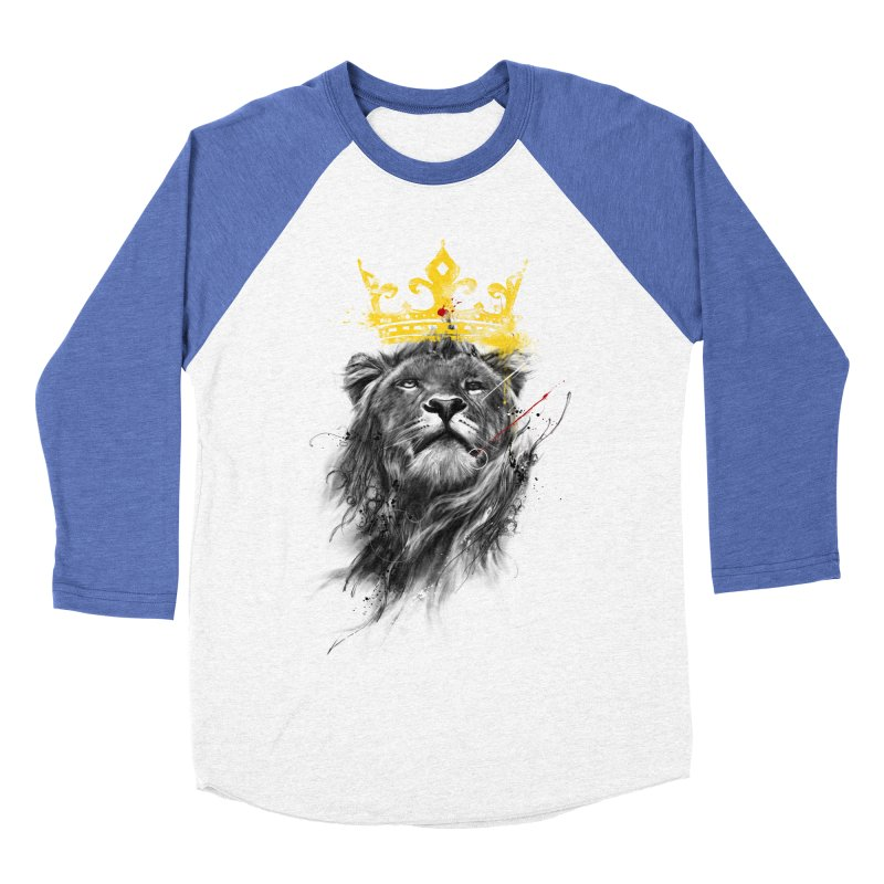 Kitty King Men's Baseball Triblend T-Shirt by kdeuce's Artist Shop