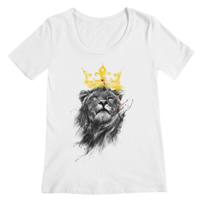Kitty King Women's Scoopneck by kdeuce's Artist Shop