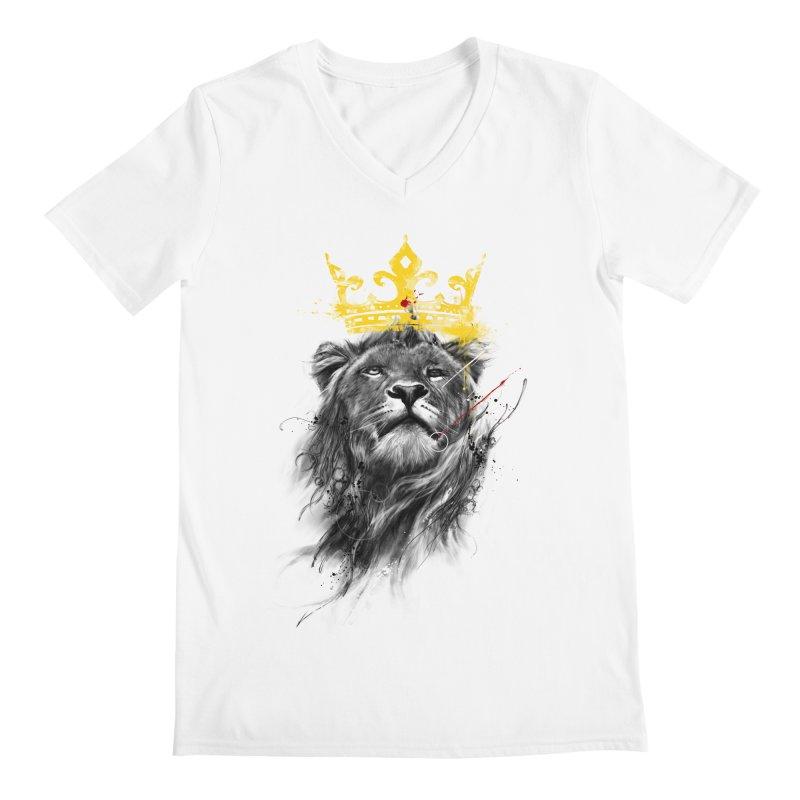 Kitty King Men's V-Neck by kdeuce's Artist Shop