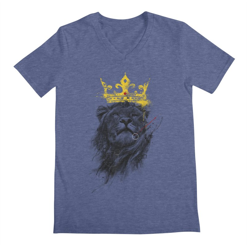 Kitty King Men's Regular V-Neck by kdeuce's Artist Shop