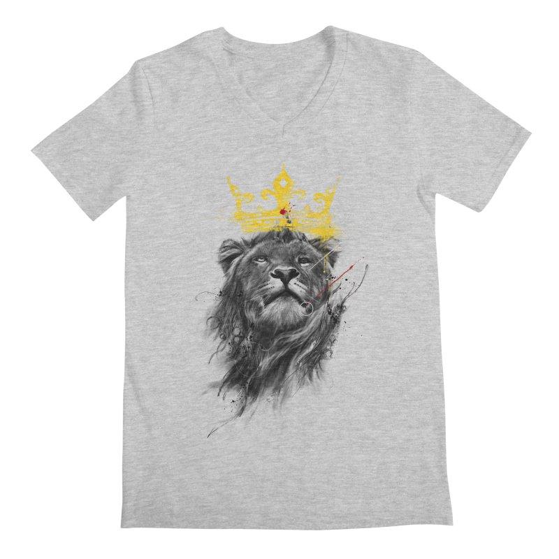 Kitty King Men's Regular V-Neck by kdeuce's Artist Shop