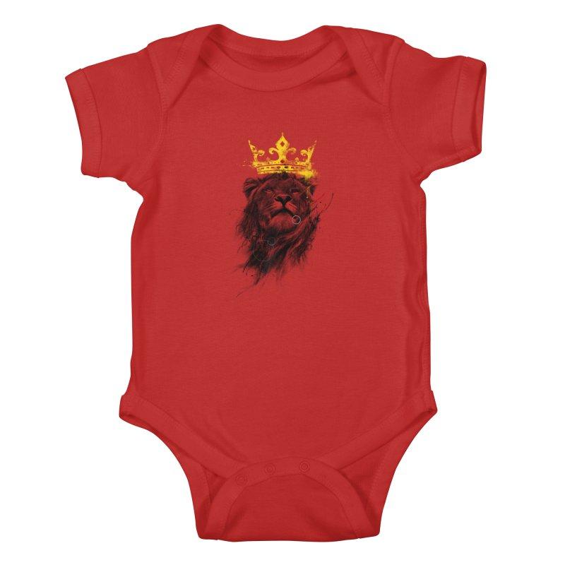 Kitty King Kids Baby Bodysuit by kdeuce's Artist Shop