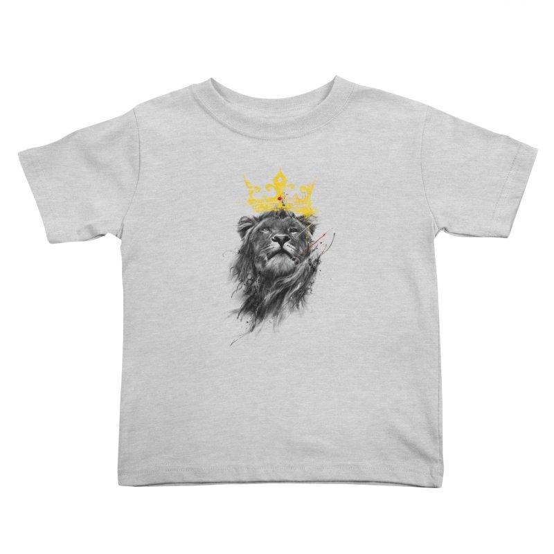 Kitty King Kids Toddler T-Shirt by kdeuce's Artist Shop