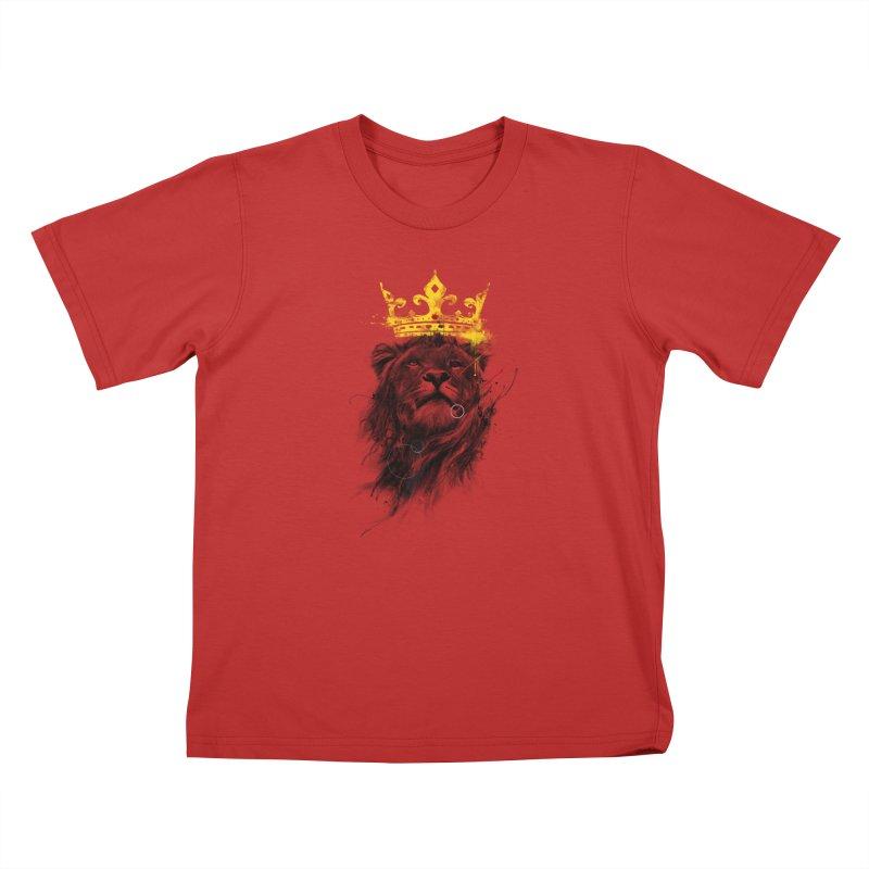 Kitty King Kids T-Shirt by kdeuce's Artist Shop