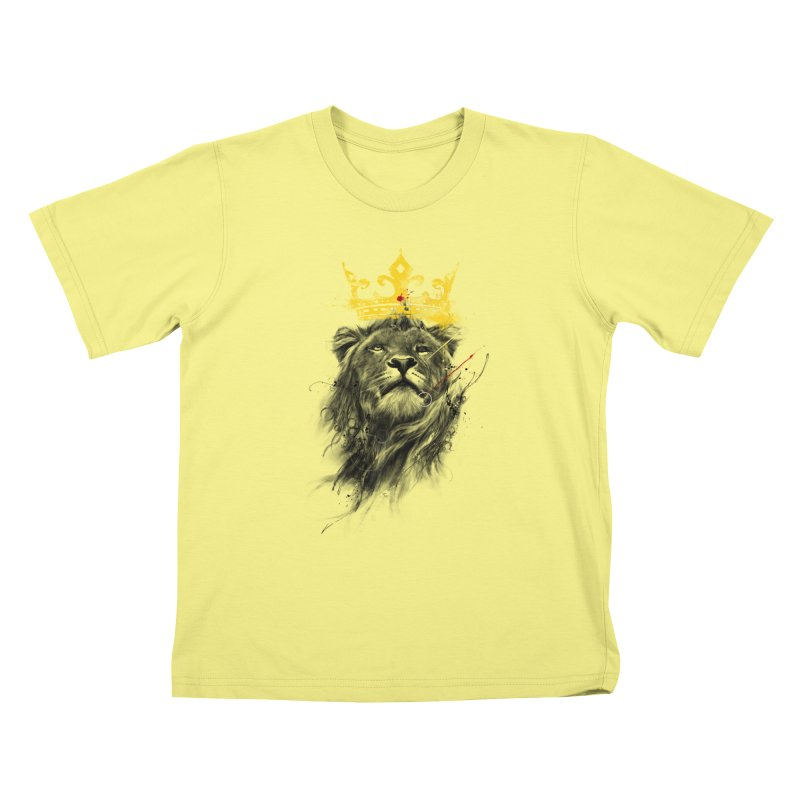 Kitty King Kids T-shirt by kdeuce's Artist Shop