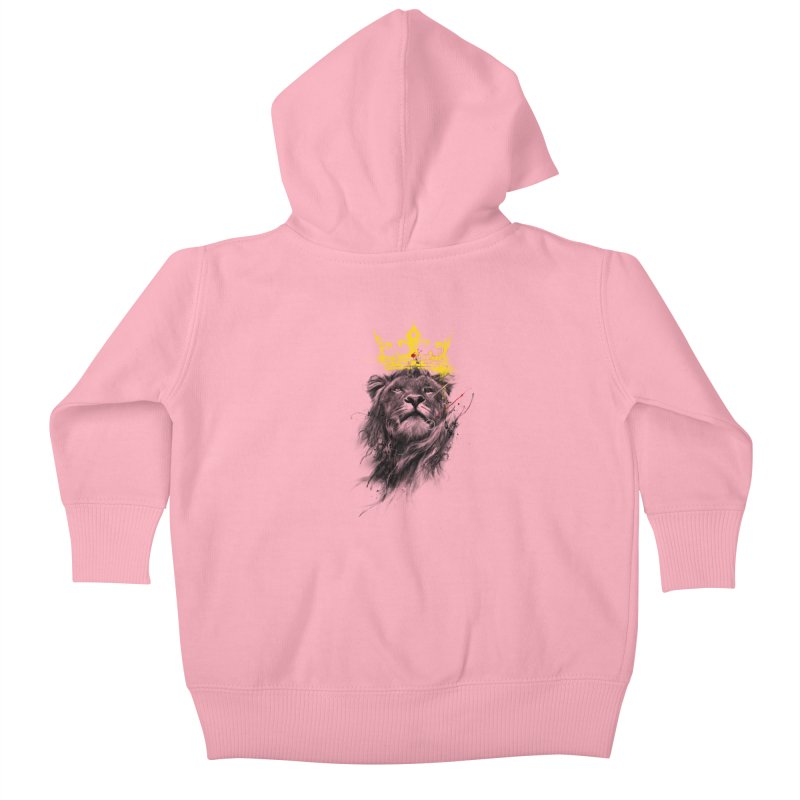 Kitty King Kids Baby Zip-Up Hoody by kdeuce's Artist Shop