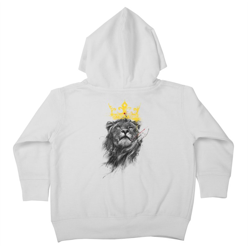 Kitty King Kids Toddler Zip-Up Hoody by kdeuce's Artist Shop