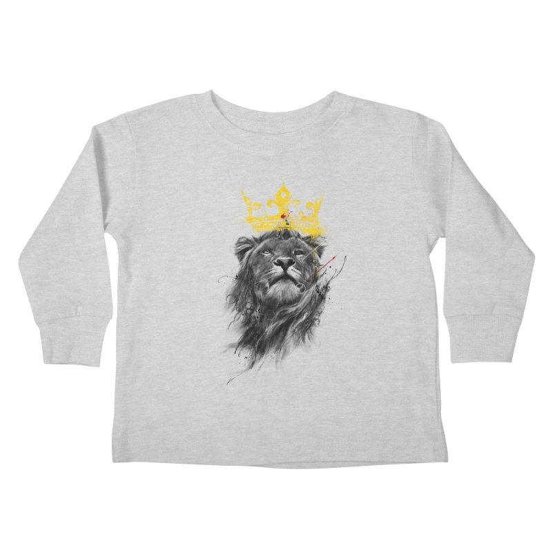 Kitty King Kids Toddler Longsleeve T-Shirt by kdeuce's Artist Shop