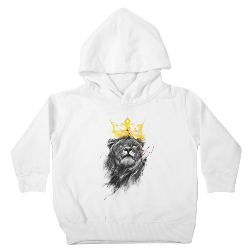 Kitty King Kids Toddler Pullover Hoody by kdeuce's Artist Shop
