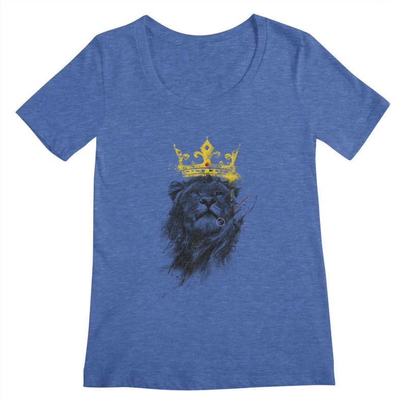 Kitty King Women's Scoopneck by kdeuce's Artist Shop