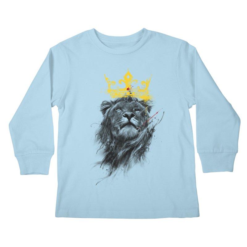Kitty King Kids Longsleeve T-Shirt by kdeuce's Artist Shop
