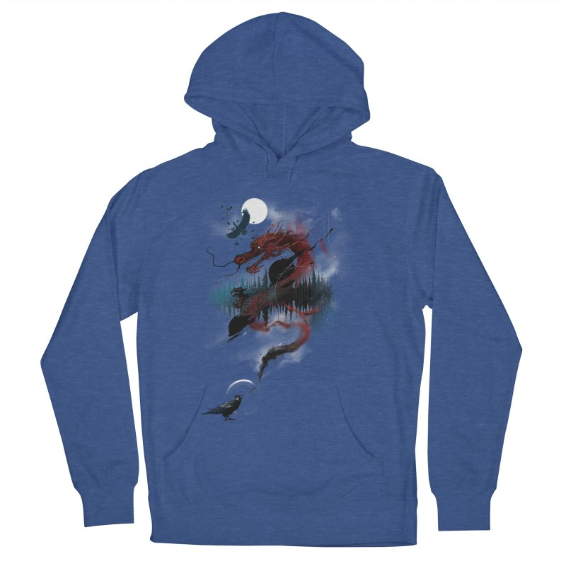 Nebulous Nightingale Women's French Terry Pullover Hoody by kdeuce's Artist Shop