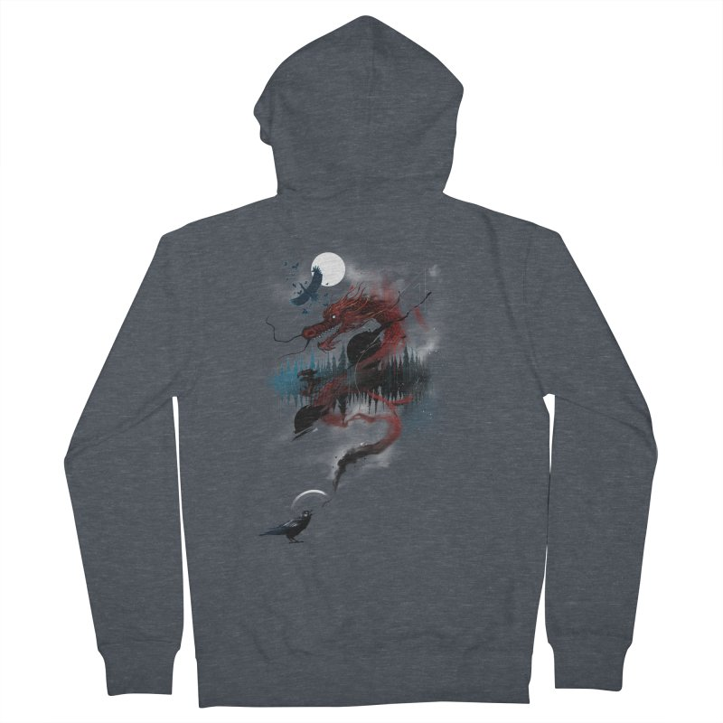 Nebulous Nightingale Men's Zip-Up Hoody by kdeuce's Artist Shop