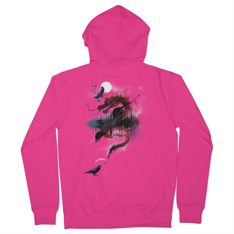 Nebulous Nightingale Men's French Terry Zip-Up Hoody by kdeuce's Artist Shop