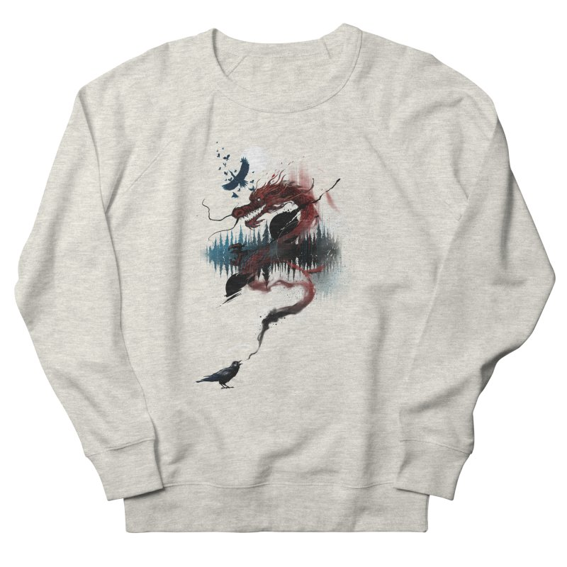 Nebulous Nightingale Men's French Terry Sweatshirt by kdeuce's Artist Shop