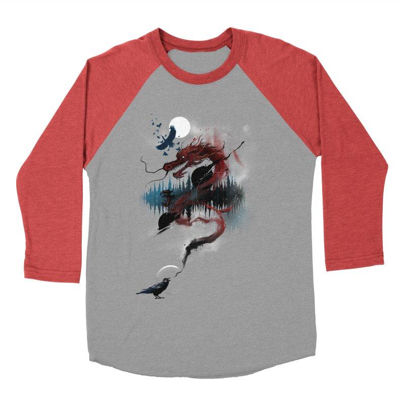 Nebulous Nightingale Women's Baseball Triblend Longsleeve T-Shirt by kdeuce's Artist Shop