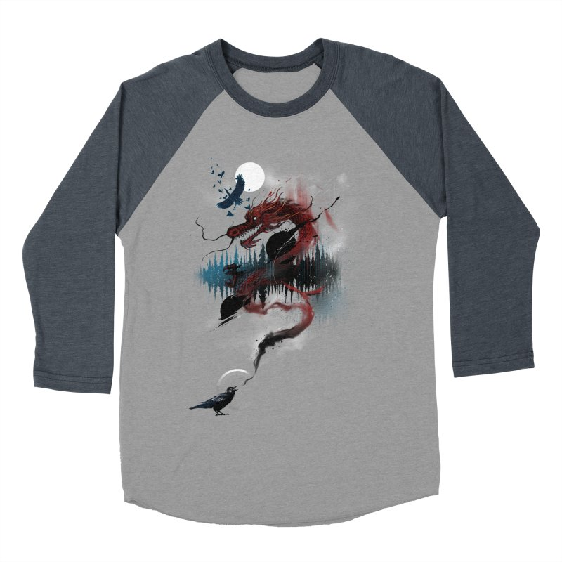 Nebulous Nightingale Women's Baseball Triblend Longsleeve T-Shirt by kdeuce's Artist Shop