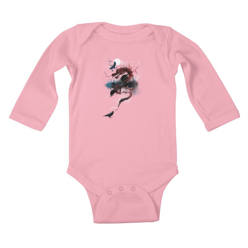 Nebulous Nightingale Kids Baby Longsleeve Bodysuit by kdeuce's Artist Shop