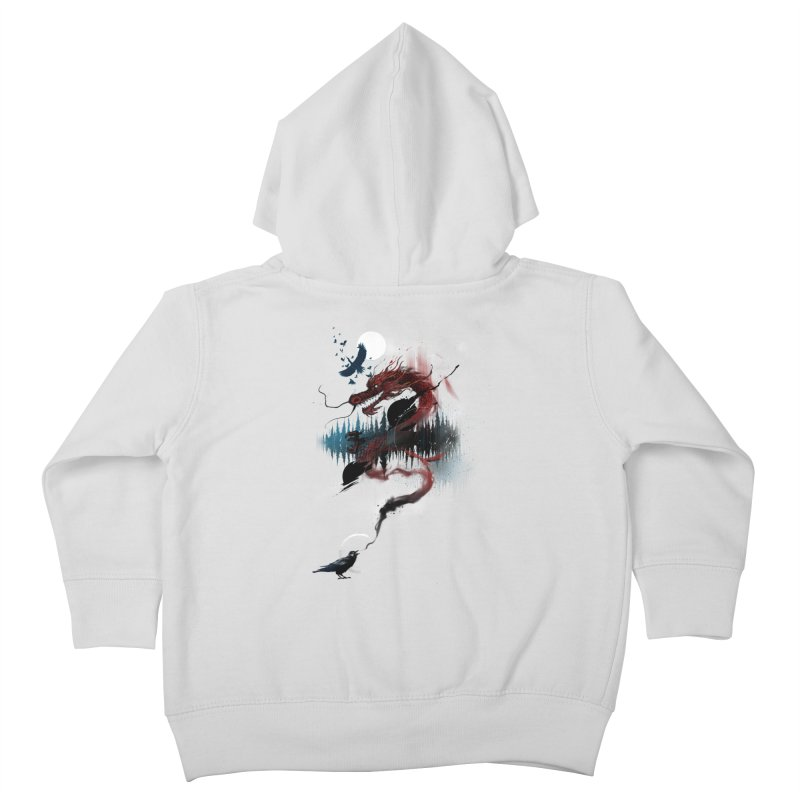 Nebulous Nightingale Kids Toddler Zip-Up Hoody by kdeuce's Artist Shop