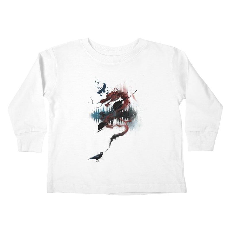 Nebulous Nightingale Kids Toddler Longsleeve T-Shirt by kdeuce's Artist Shop