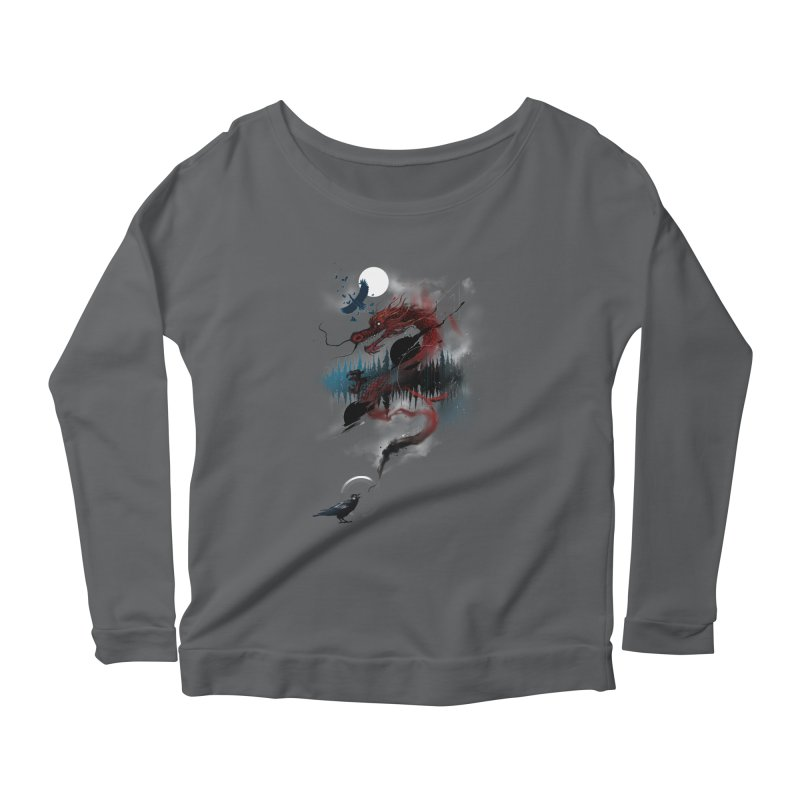 Nebulous Nightingale Women's Longsleeve Scoopneck  by kdeuce's Artist Shop