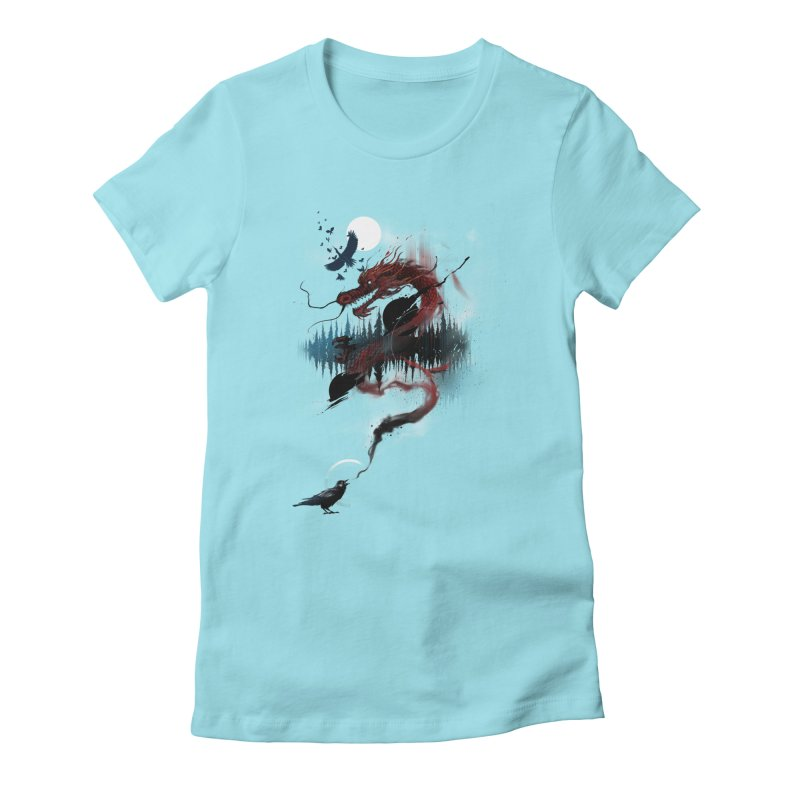 Nebulous Nightingale Women's Fitted T-Shirt by kdeuce's Artist Shop