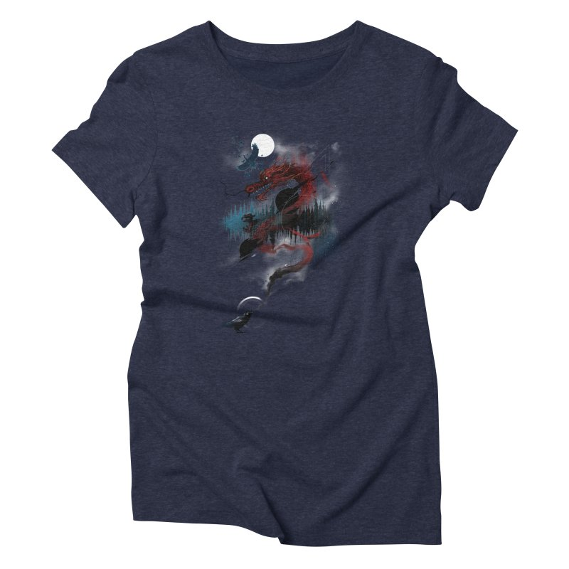 Nebulous Nightingale Women's Triblend T-Shirt by kdeuce's Artist Shop