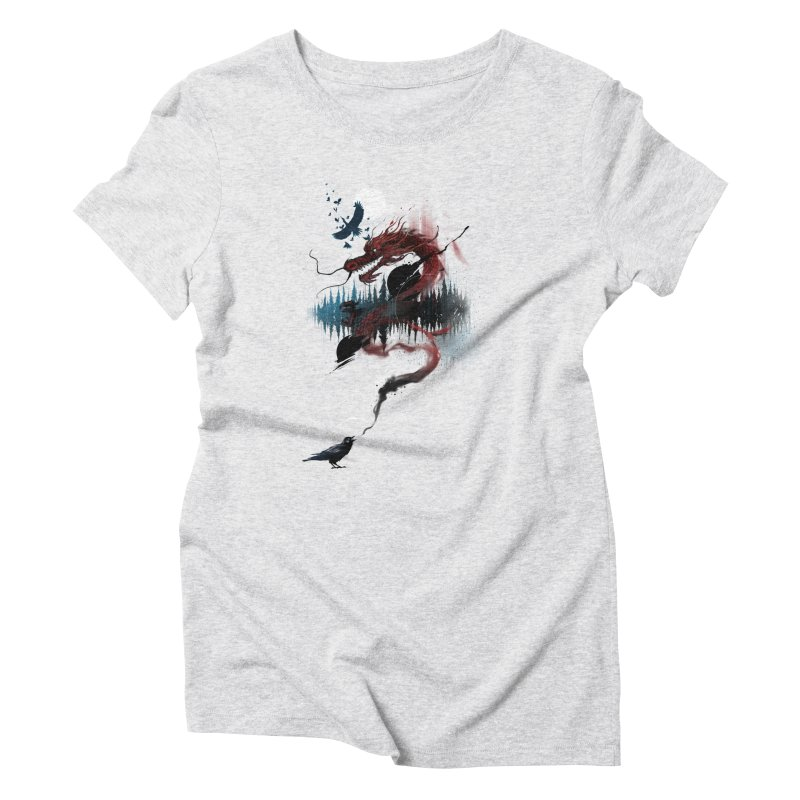 Nebulous Nightingale Women's Triblend T-Shirt by kdeuce's Artist Shop