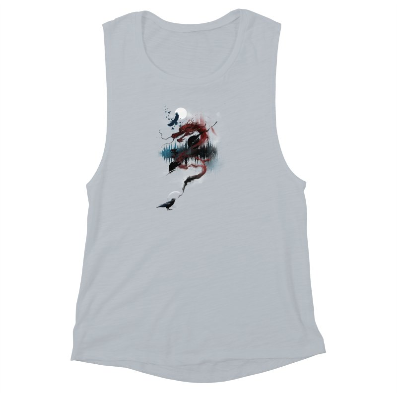 Nebulous Nightingale Women's Muscle Tank by kdeuce's Artist Shop