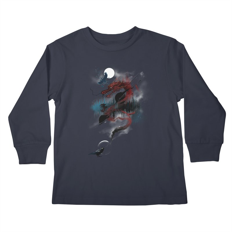 Nebulous Nightingale Kids Longsleeve T-Shirt by kdeuce's Artist Shop