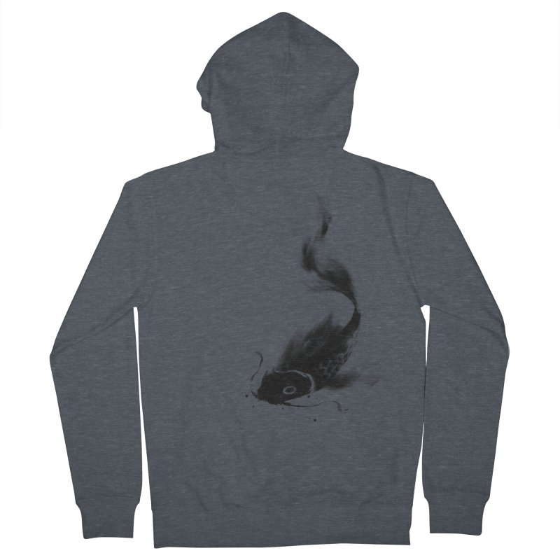 Koi Wash Men's Zip-Up Hoody by kdeuce's Artist Shop