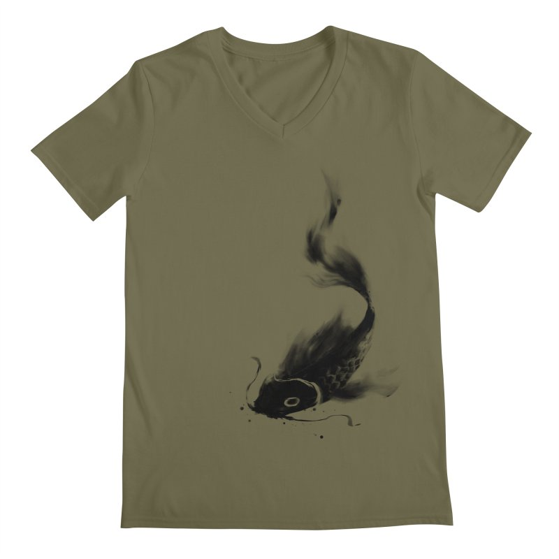 Koi Wash Men's Regular V-Neck by kdeuce's Artist Shop