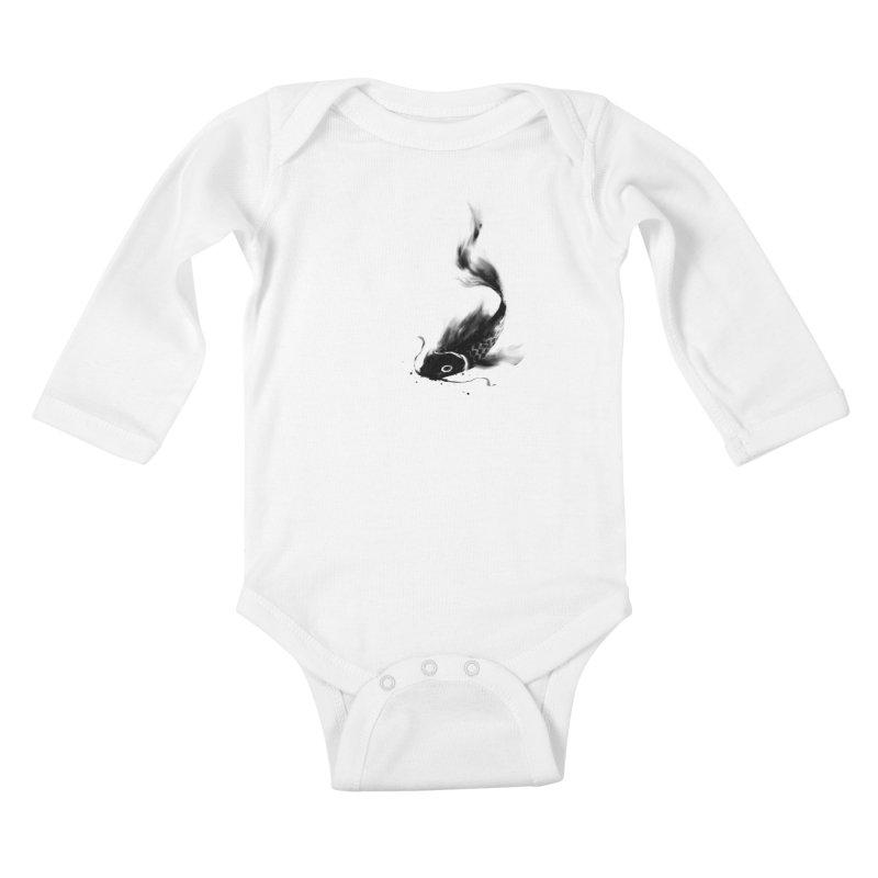 Koi Wash Kids Baby Longsleeve Bodysuit by kdeuce's Artist Shop