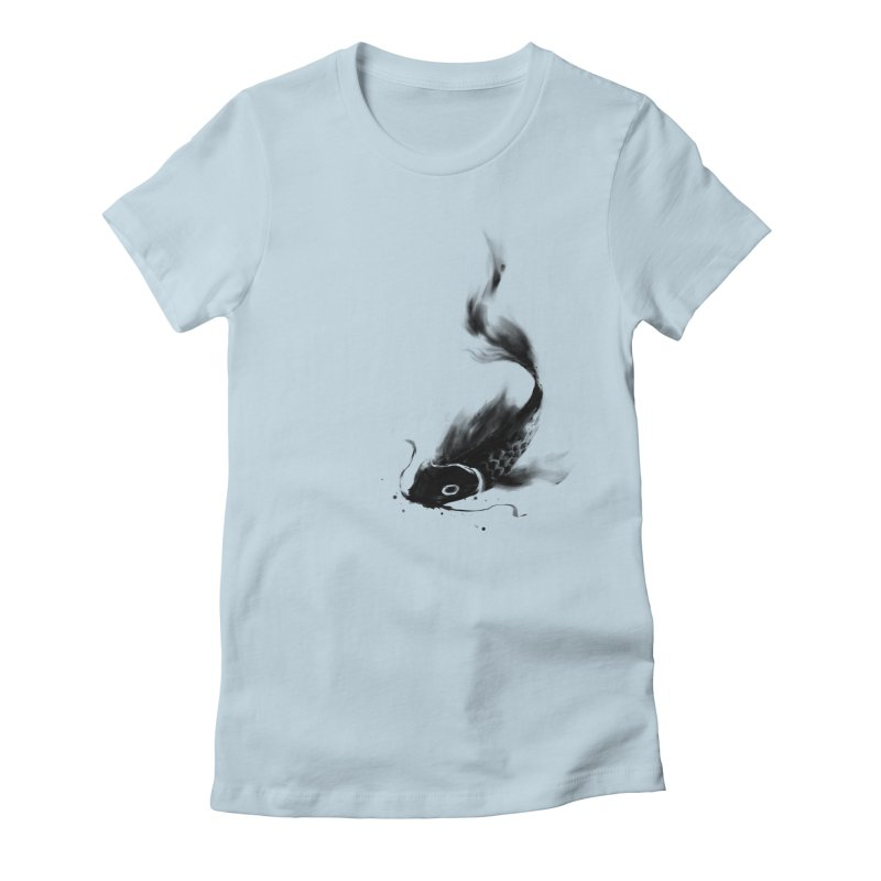 Koi Wash Women's Fitted T-Shirt by kdeuce's Artist Shop
