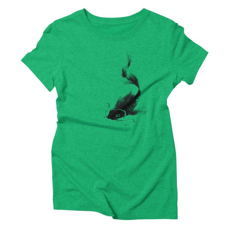 Koi Wash Women's Triblend T-Shirt by kdeuce's Artist Shop