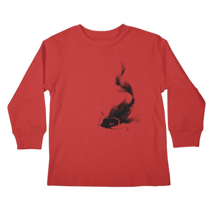 Koi Wash Kids Longsleeve T-Shirt by kdeuce's Artist Shop