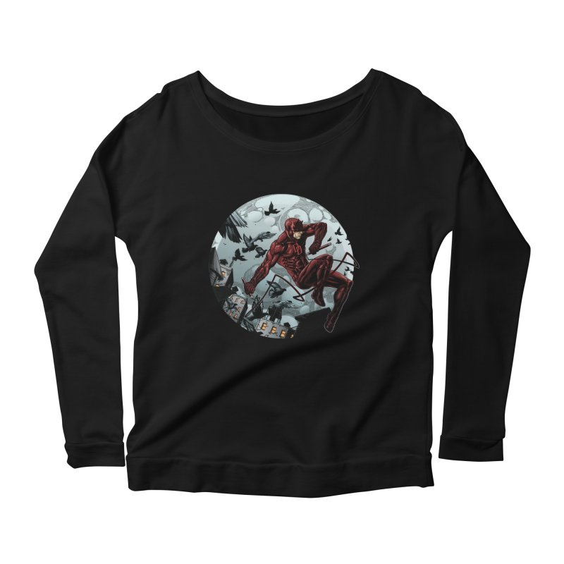 Fearless Women's Longsleeve Scoopneck  by Keatopia Apparel