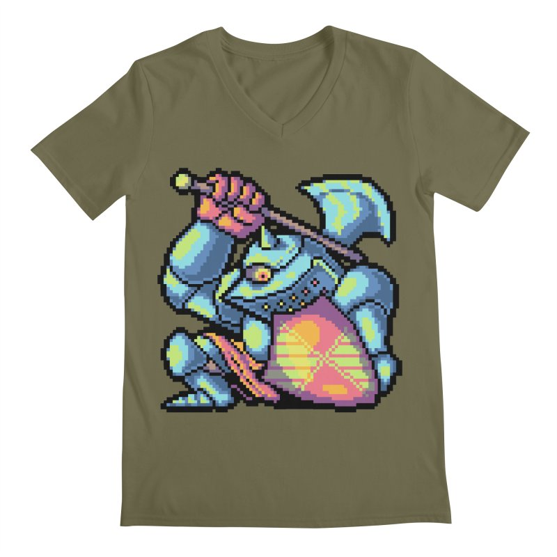 Knight Errant  Men's Regular V-Neck by Things You Might Find In A Dungeon