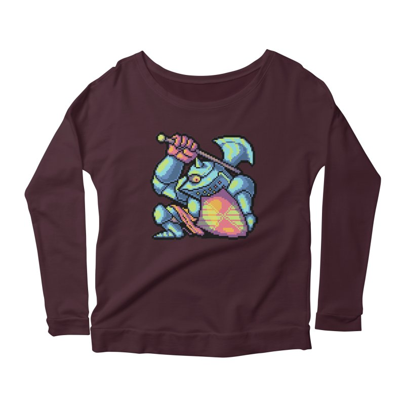 Knight Errant  Women's Scoop Neck Longsleeve T-Shirt by Things You Might Find In A Dungeon