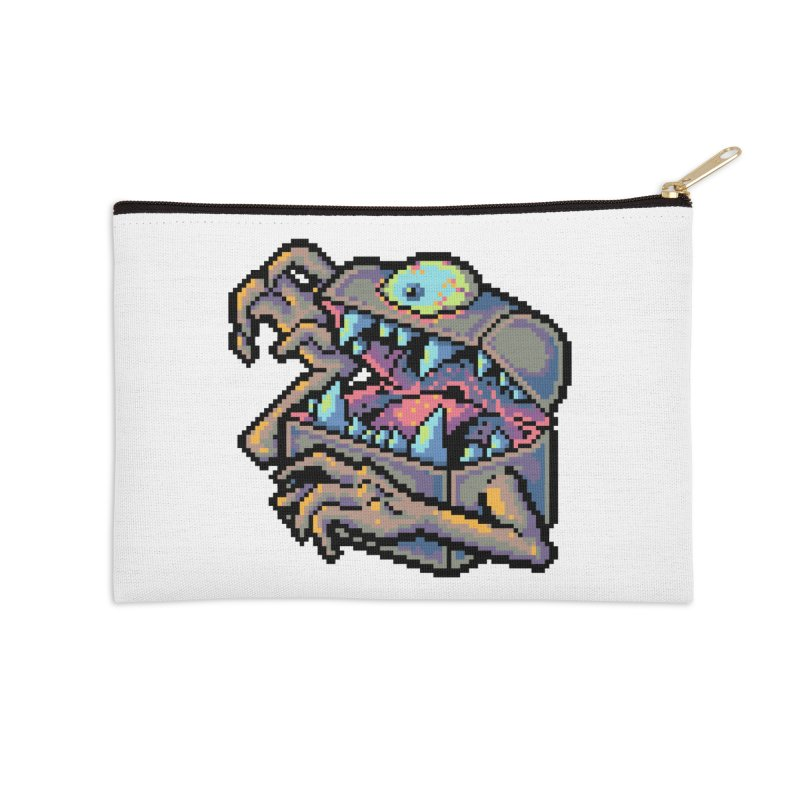 A Deadly Mimic Accessories Zip Pouch by Things You Might Find In A Dungeon