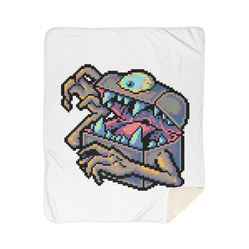 A Deadly Mimic Home Sherpa Blanket Blanket by Things You Might Find In A Dungeon
