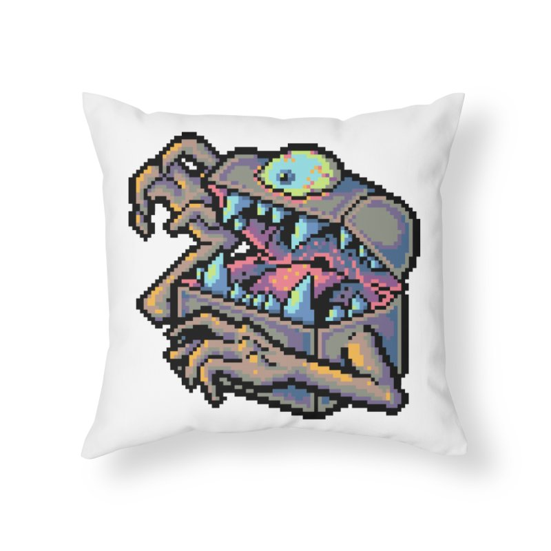 A Deadly Mimic Home Throw Pillow by Things You Might Find In A Dungeon