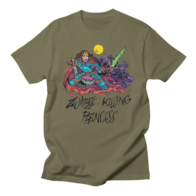 Zombie-Killing Princess (black text) Men's T-Shirt by Things You Might Find In A Dungeon