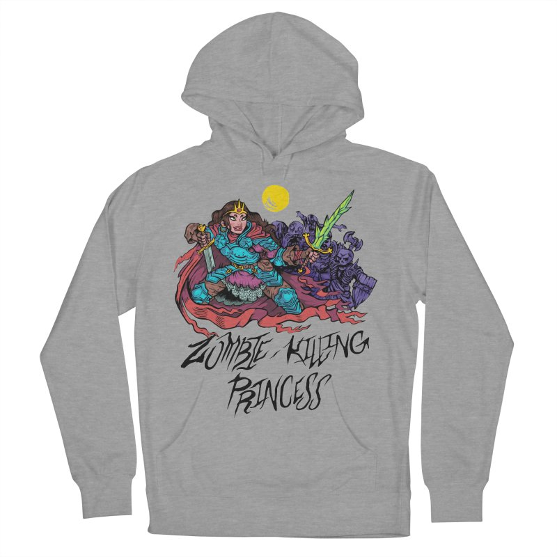 Zombie-Killing Princess (black text) Women's French Terry Pullover Hoody by Things You Might Find In A Dungeon