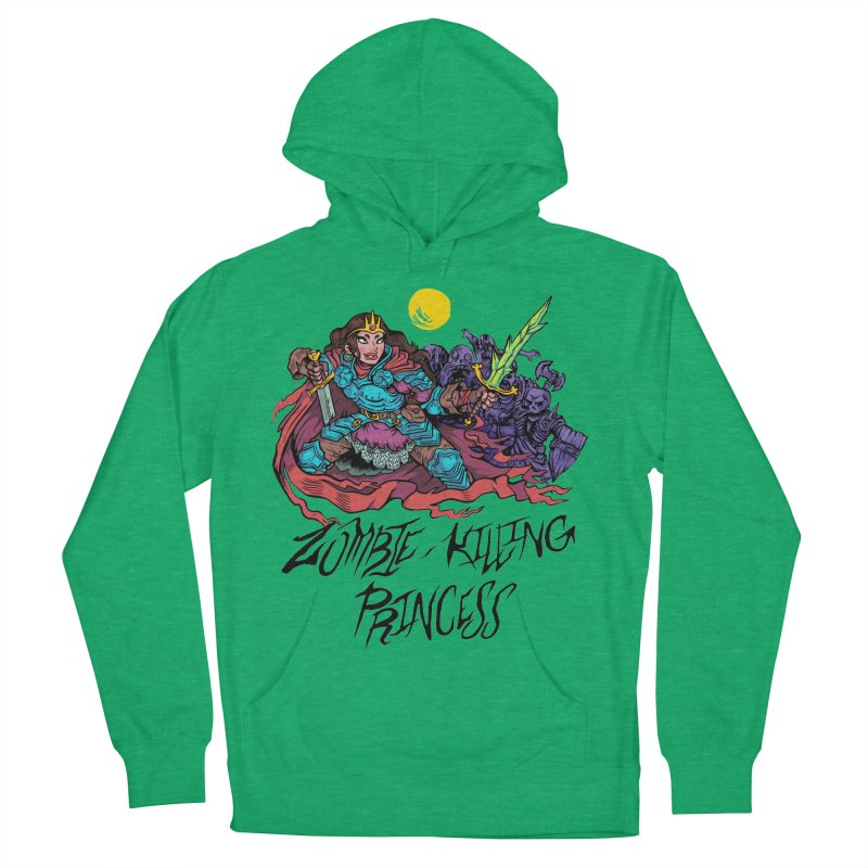 Zombie-Killing Princess (black text) Men's French Terry Pullover Hoody by Things You Might Find In A Dungeon