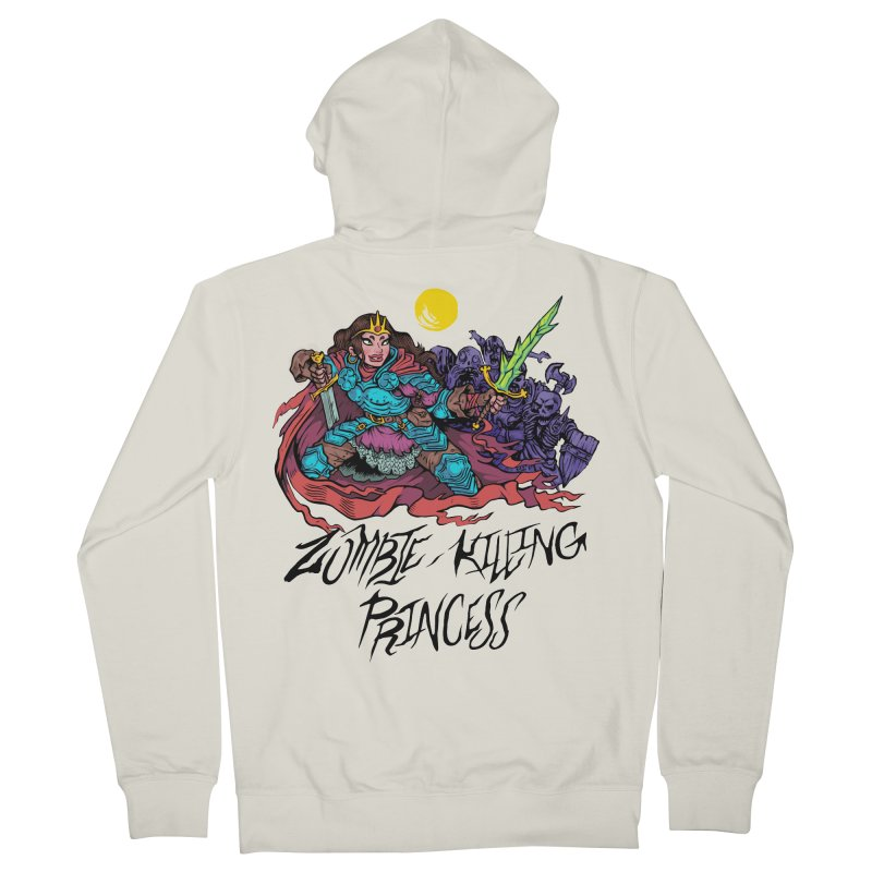 Zombie-Killing Princess (black text) Men's French Terry Zip-Up Hoody by Things You Might Find In A Dungeon