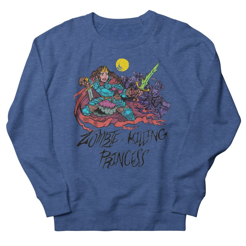 Zombie-Killing Princess (black text) Women's French Terry Sweatshirt by Things You Might Find In A Dungeon